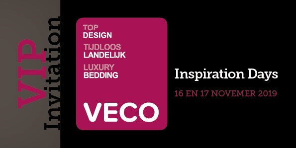 16 & 17 November we will be present at the Veco Inspiration days